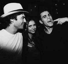 Stefan & Damon Salvatore x Elena Gilbert - Ian Somerhalder x Paul Wesley x Nina Dobrev