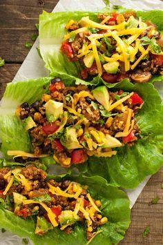 taco vegetarian lettuce wraps vegetarian lettuce wraps put a tasty low ...