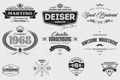 Check out 10 Retro Logo Badges And Labels by Marvel on Creative Market