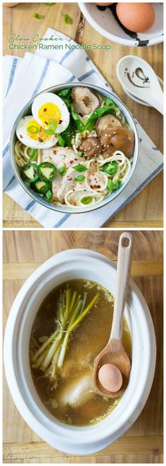 Slow Cooker Chicken Ramen Noodle Soup Recipe
