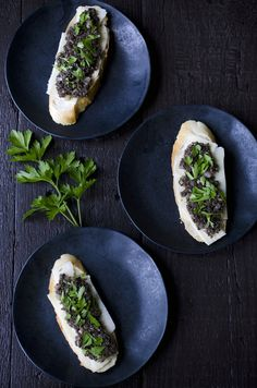 Mushroom Duxelle Crostini by Savory Simple [AUGUST FEATURED RECIPE]