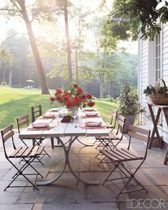 summer dinners at the farm.