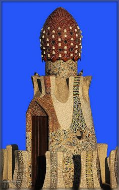 Gaudi Gatehouse, Parc Guell, Barcelona,via Flickr