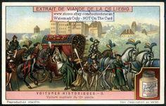 Elegant 15th Century Wedding Carriage c1917 Card