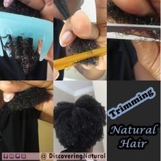 Natural Hair : How I trim my natural hair  DiscoveringNatural  First trim of 2014! Want to know how I trimmed my #naturalhair and my final look?  Check out DiscoveringNatural blog post: http://discoveringnatural.blogspot.com/2014/01/how-i-trim-my-natural-hair.html