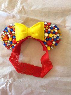 Snow White Minnie Mouse Diamond Ears by CrazyBeautifulCreati