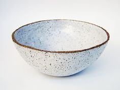 Rustic Bowl Ceramic Bowl Serving Bowl Speckled by susansimonini