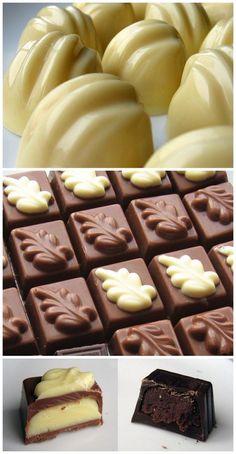 Molded Pralines #chocolates #recipe #candy