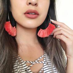 Talia Tassel Hoop Earrings