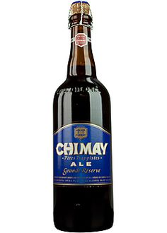 Chimay Grande Reserve Blue. Chimay is an authentic Trappist beer. That means that it is brewed within the walls of a Trappist monastery under the control and responsibility of the community of monks, and whose revenue is devoted to social service.