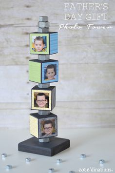 Father's Day Photo Tower Gift : Core'dinations ColorCore Cardstock® | Scrapbook Cardstock Paper, Projects, Tips, Techniques and More!