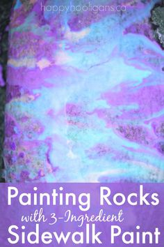painting rocks with
