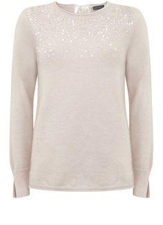 Powder Scattered Sequin Knit | Knitwear | MintVelvet