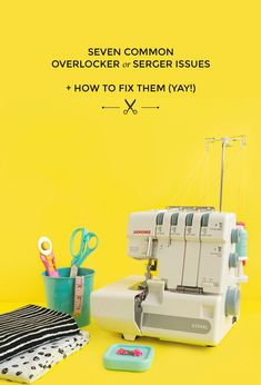 Good Photographs easy sewing fixes Tips How to fix overlocker or serger stitch problems - Tilly and the Buttons Serger Projects, Sewing Projects For Beginners, Sewing Hacks, Sewing Tutorials, Sewing Tips, Sewing Ideas, Sewing Basics, Brother 1034d, Serger Stitches