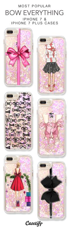 Most Popular Bow Everything iPhone 7 Cases & iPhone 7 Plus Cases. More liquid glitter iPhone case here >https://www.casetify.com/en_US/collections/iphone-7-glitter-cases#/?vc=pai7v4pY7j