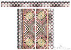 Traditional Ukrainian embroidery pattern for the shirt