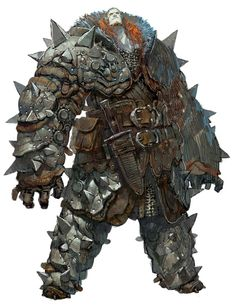 small head giant in armor Character Design Challenge, Character Design Cartoon, Fantasy Character Design, Character Design Inspiration, Character Concept, Character Art, Fantasy Armor, Medieval Fantasy, Dark Fantasy
