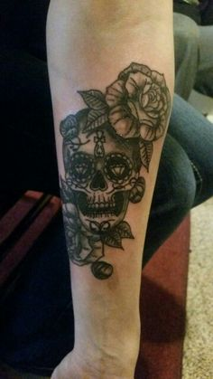 Newest addition #tattoo #sugarskull