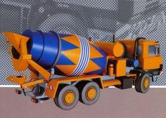 Tatra 815 Mixer Truck Paper Model Free Template Download - http://www.papercraftsquare.com/tatra-815-mixer-truck-paper-model-free-template-download.html#132, #ConcreteMixer, #Mixer, #Truck, #VehiclePaperModel