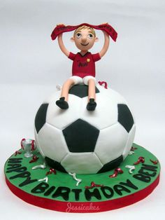 Manchester United football cake |  http://facebook.com/thesearejessicakes