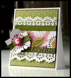 Anniversary Card using Momenta Paper and @Spellbinders