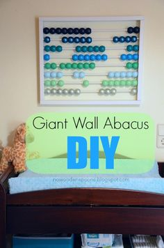 No Wooden Spoons: Giant Wall Abacus DIY
