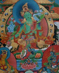 Tibetan Buddhism is distinguished by its rich mythology and art, esoteric tantra practices, and reincarnated lamas. Buddhist Symbols, Buddhist Art, Buddha Buddhism, Tibetan Buddhism, Dalai Lama, Vajrayana Buddhism, Thangka Painting, Green Tara, Tibetan Art