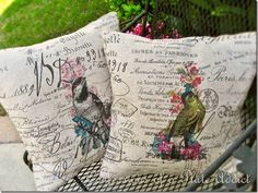 CONFESSIONS OF A PLATE ADDICT Pillows...Country French Style