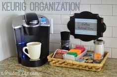 coffee bar display ideas - Google Search Keurig Station, Tea Station, Home Coffee Stations, Pantry Makeover, Coffee Drinkers, Coffee Machine, Espresso Machine, Best Coffee, Coffee Beans