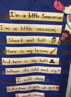 Short but popular nursery rhyme about a little snowman.