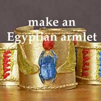 Make an ancient Egyptain armlet and other ancient Egyptian crafts for kids from Time Traveller Kids