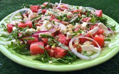 Dieta raw: insalata a base di anguria! #raw #insalata #estate #anguria #ricette