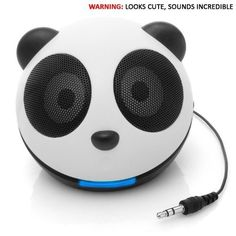 Because my pandas should have sound    GOgroove Panda Pal High-Powered Portable Laptop , MP3 , Tablet Mini Speaker System by Accessory Power, http://www.amazon.com/dp/B00475LJC2/ref=cm_sw_r_pi_dp_v0sDpb0XYGZWX