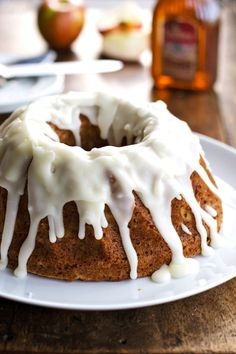Whole Wheat Honey Apple Bundt Cake from Pinch of Yum