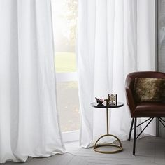 Belgian Flax Linen Curtain - White   west elm - http://www.westelm.com/products/belgian-linen-curtain-white-t1791/?pkey=cwindow-panels-curtains-shades