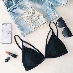Summer Style // F21 Bikini Top + Shorts (via @andeelayne)
