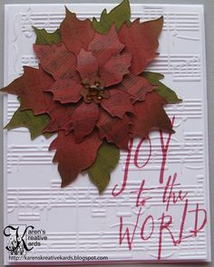 Karen's Kreative Kards: Pinterest and Tim Holtz Inspired Christmas Card