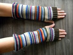 re-purposed sweater to gloves....great use of out of style colors or damaged sweaters. i could find a bunch to use for this at the thrift store