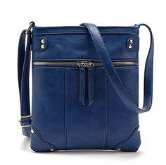 76293d3481 Lotclue PU Leather Crossbody Bags Purse for Women Small Shoulder Bag  Vintage Messenger Bag