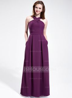 Bridesmaid Dresses - $118.99 - A-Line/Princess V-neck Floor-Length Chiffon Bridesmaid Dress (007025353) http://jjshouse.com/A-Line-Princess-V-Neck-Floor-Length-Chiffon-Bridesmaid-Dress-007025353-g25353?ver=xdegc7h0