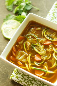 Crockpot Miso Vegetable Zoodle Soup