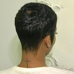 "848 Likes, 6 Comments - Uno (@hairbyuno) on Instagram: ""BACK SHOT! The Perfect Pixie Precision cut & style #HairByUno #AtlantaHairstylist…"""