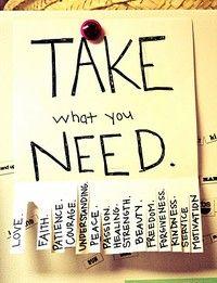 Agafa el que necessitis...