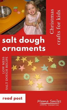 These salt dough Christmas tree ornaments are easy to make and hold up well to wear and tear from little kids who love their tree! Fun for older kids, too. #saltdough #christmasactivities #handmadechristmas #mamasmiles #diyornaments Salt Dough Christmas Ornaments, Christmas Ornament Crafts, Handmade Christmas, Fun Math Activities, Christmas Activities For Kids, Preschool Learning, Early Learning, All Things Christmas, Christmas Holidays