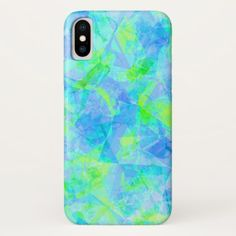 Funky Modern Retro Cool Polygon Mosaic Pattern iPhone X Case - retro gifts style cyo diy special idea