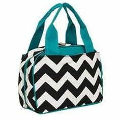 Rakuten.com:Handbags Bling and More|Chevron Print Insulated Lunch Bag-Aqua.|Uncategorized