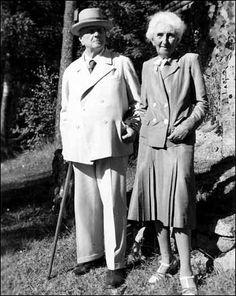 #Sibelius with his wife Aino Sibelius (1871-1969)