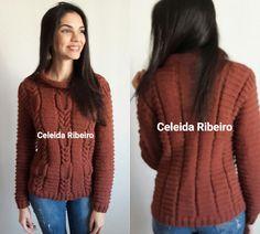 Celeida Ribeiro: Blusa de tricô a mão!