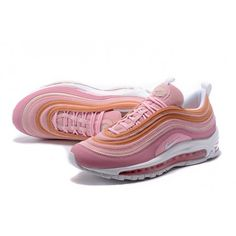 detailed look 07e7d bdcf6 Dam Nike Air Max 97 Shockproof Skor Rosa Orange Vit 312834-200