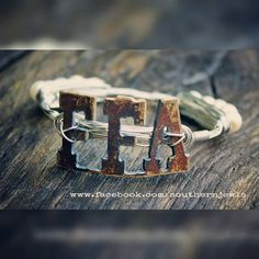 Bangle WireWrapped Bracelet FFA Recycled Metal by SouthernJewls And a Custom with TX on it